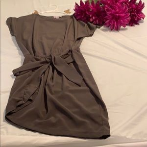 Olive Green tilted skirt dress